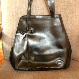 Longchamp black leather beautiful bag.